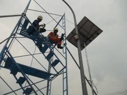 Proyek PJU di PT PGN di Pasuruan