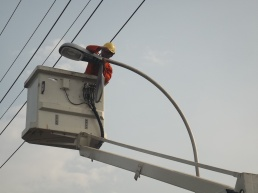Proyek Lampu LED PT SIER di Rungkut Industri Surabaya